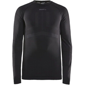 Craft Active Intensity Top Manga Larga Cuello Barco Hombre, black/asphalt